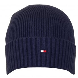 Pima Cotton Cashmere Beanie Hat, Navy