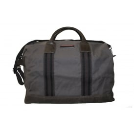 Preppy Story Waxed Canvas Holdall Bag, Grey