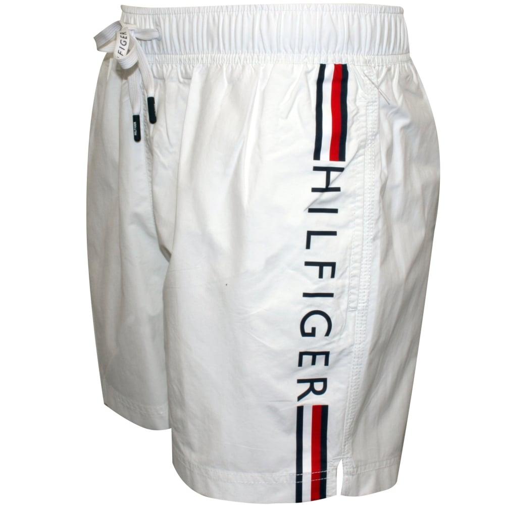 e74d94c7f39f Tommy Hilfiger Logo Swim Shorts, White | Hilfiger swim shorts | UnderU
