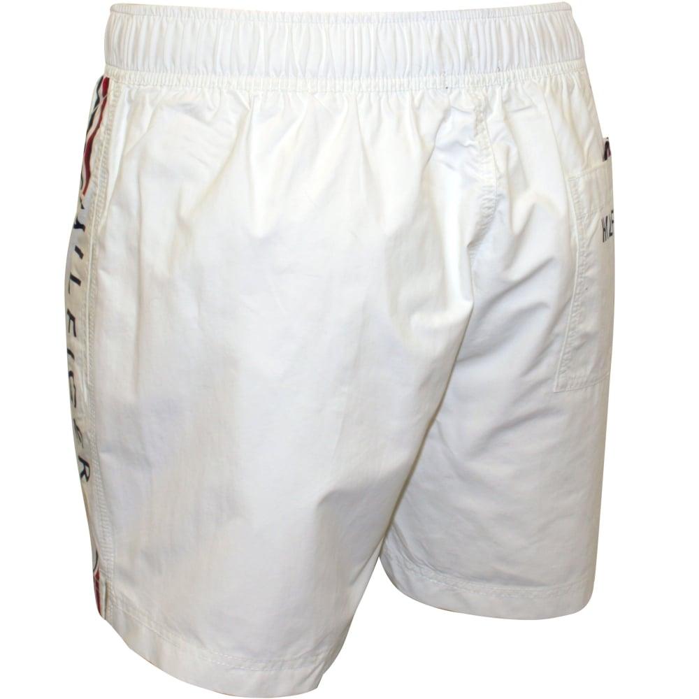 38bc31e9bd Tommy Hilfiger Logo Swim Shorts, White | Hilfiger swim shorts | UnderU