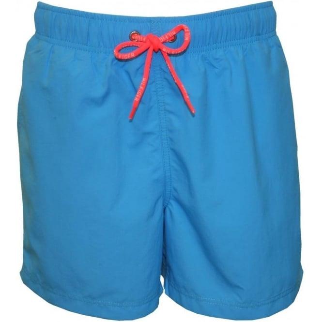 3b76ef5c93 Tommy Hilfiger Solid Colour Swim Shorts, Bright Blue   UnderU