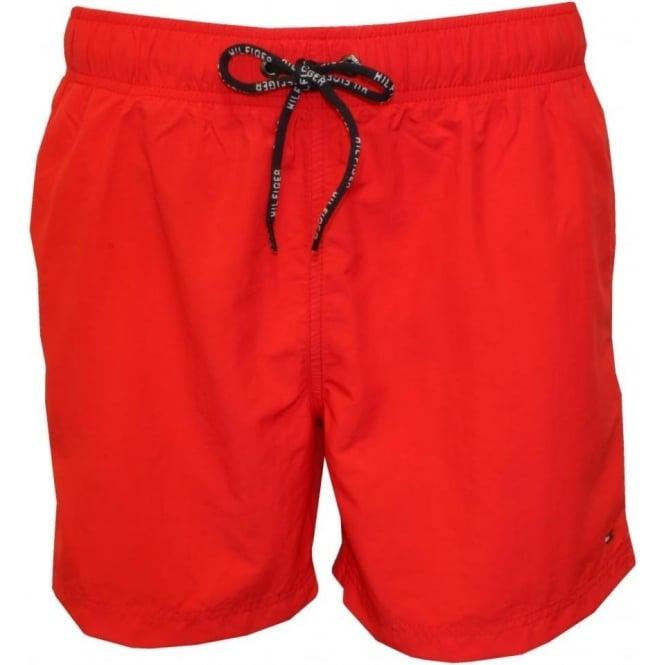 1abe340255 Tommy Hilfiger Solid Colour Swim Shorts, Red   UnderU