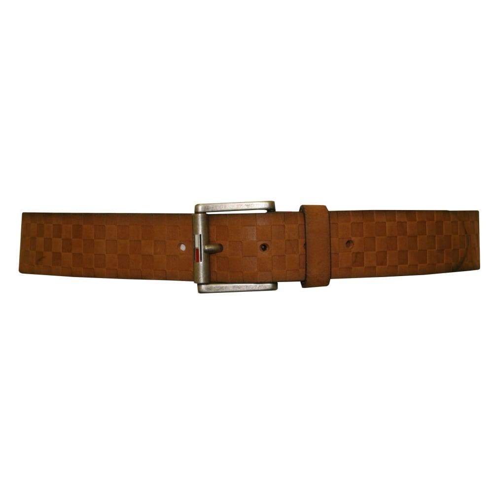 5d434d806 Tommy Hilfiger Textured Leather Belt, Tan   Hilfiger belts   UnderU