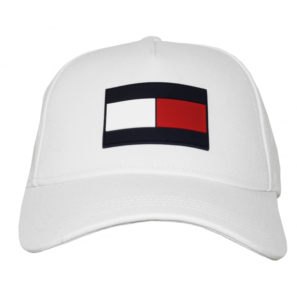 a95a6cf9 Tommy Hilfiger TH Flag Baseball Cap, White | Tommy Hilfiger men's ...