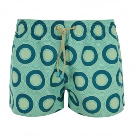 Tuckernuck Shortie Green Hoops Swim Shorts