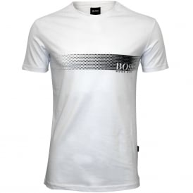 Urban Logo UV-Absorbent Crew-Neck T-Shirt, White/black