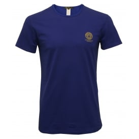 Iconic Crew-Neck Stretch Cotton T-Shirt, Blue