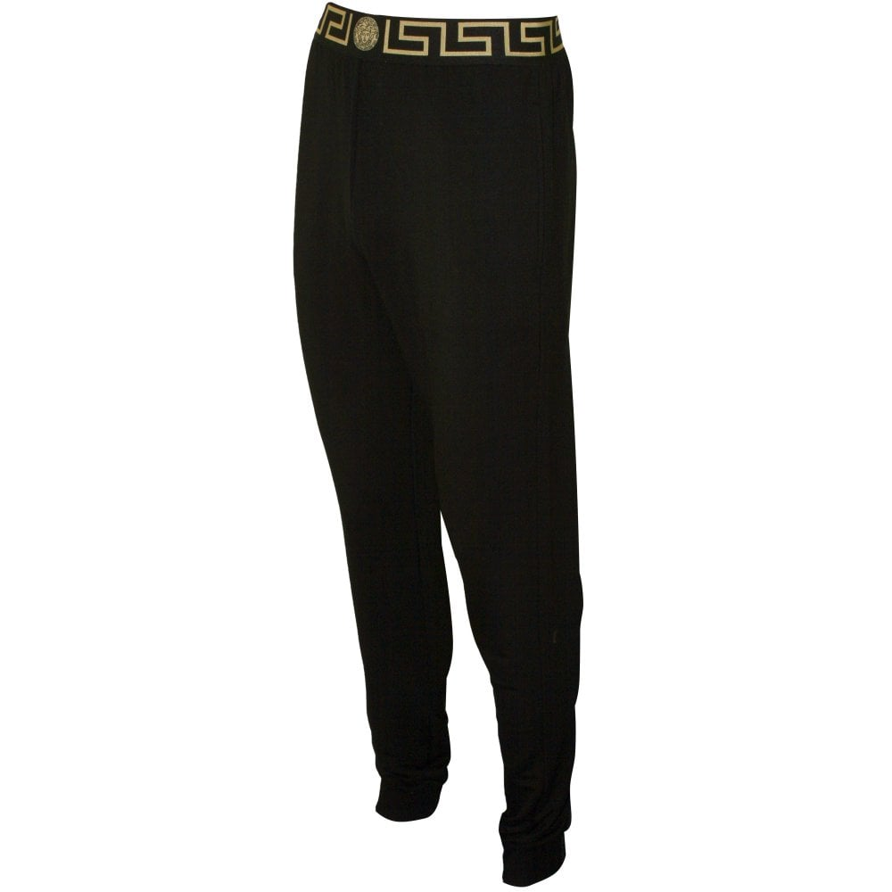 Black//gold Versace Iconic Men/'s Luxe Gym Trousers