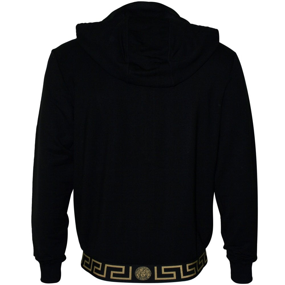 Versace Iconic Luxe Tracksuit Hoodie, Blackgold