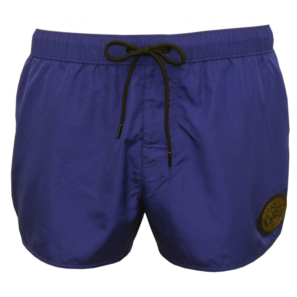249fcdf0dffcf Versace Iconic Piping Luxe Swim Shorts, Bluette/military | UnderU