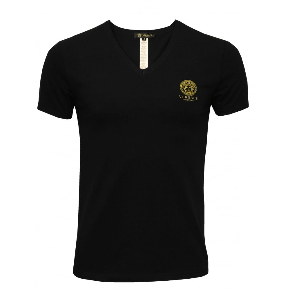 785d521bd5 Iconic V-Neck Stretch Cotton T-Shirt, Black