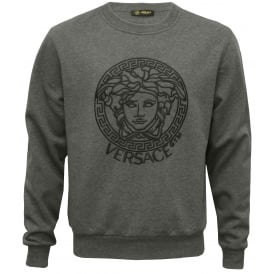 Logo Gym Luxe Sweatshirt, Grey Melange