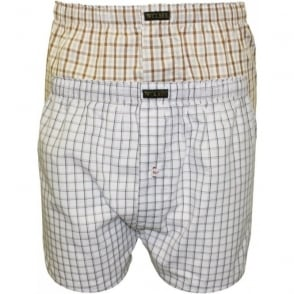 2-Pack Button-Fly Boxer Shorts, Grey Assortment