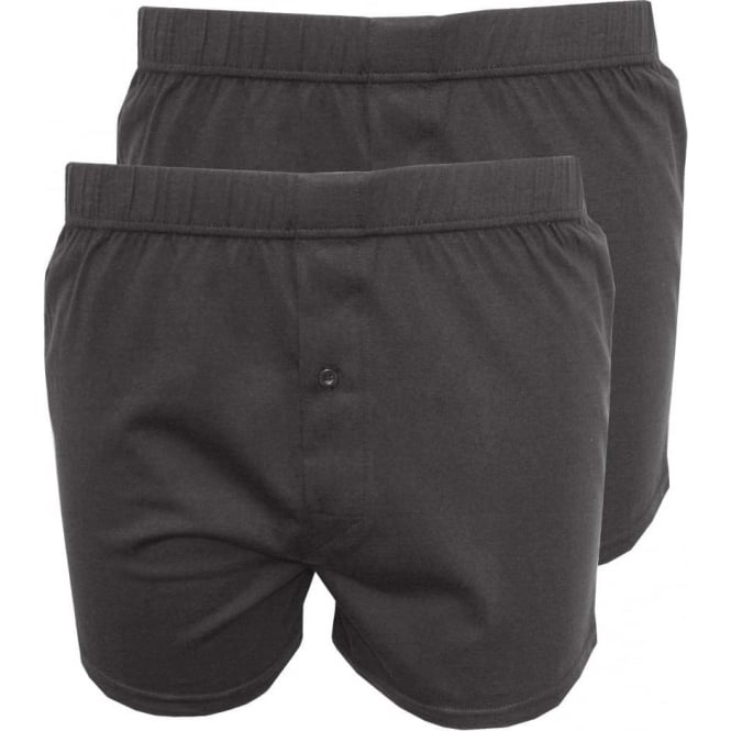 Wolsey 2-Pack Jersey Cotton Boxer Shorts, Dark Grey