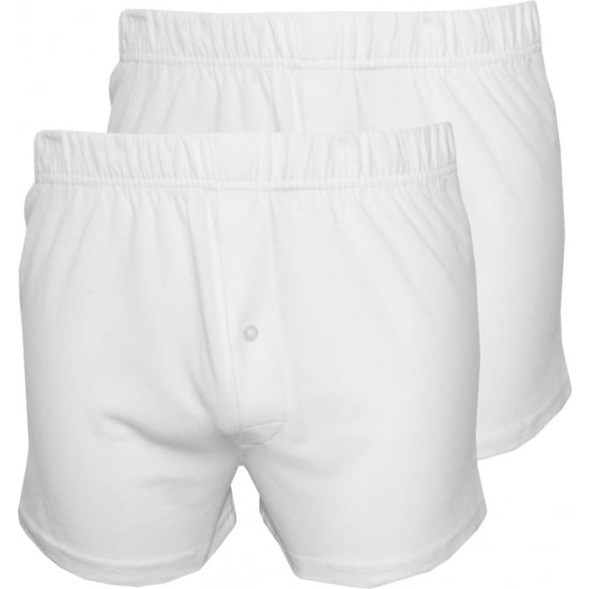 Wolsey 2-Pack Jersey Cotton Boxer Shorts, White