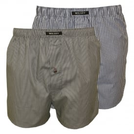 2-Pack Swell Boxer Shorts, Grey/Navy