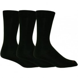 3-Pack Classic Mercerised Cotton Socks, Black