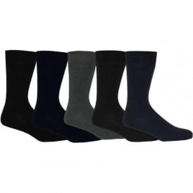 5-Pack Ribbed Cotton Socks, Urban colours