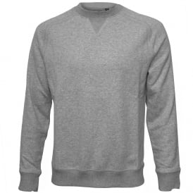 Brushed Cotton Crew-Neck Sweatshirt, Grey Marl