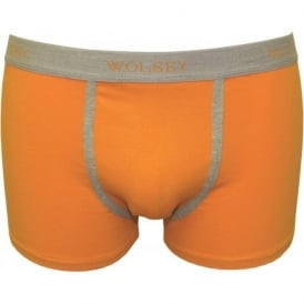 Contrast Piping Low Rise Boxer Trunk, Orange
