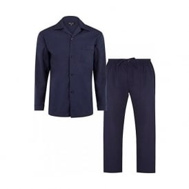 Plain Soft Cotton Pyjama Set, Navy