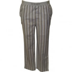 Striped Twill Pyjama Bottoms, Cobalt Blue